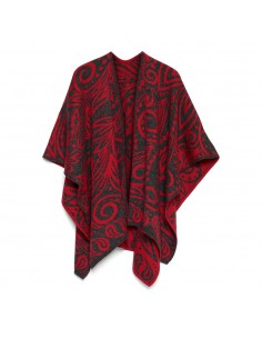 OMSLAGDOEK DANCING RED PRINT