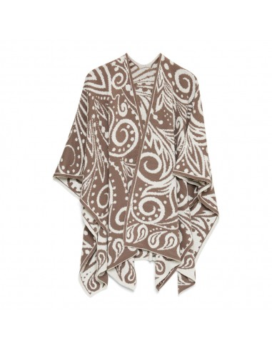 OMSLAGDOEK DANCING TAUPE WHITE