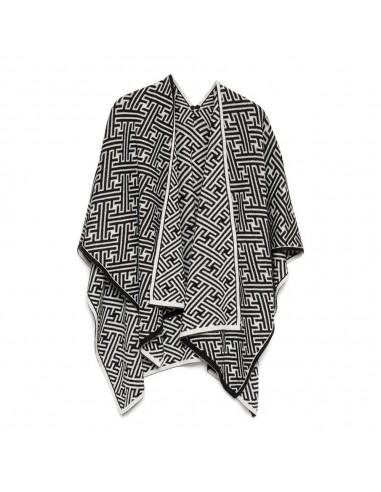 Omslagdoek marni print zwart wit